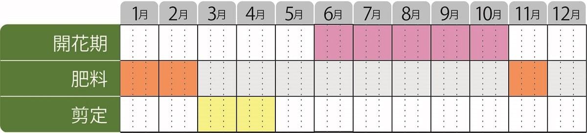 栽培カレンダー_アベリアピンキーベルズ