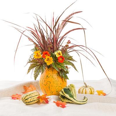 パンプキン花瓶の作り方